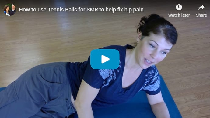 Video of how to use tennis balls for Self Myofascial Release